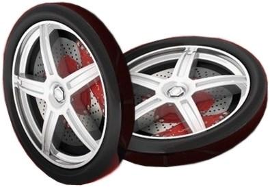 Пластиковые колеса для Kiddy (2шт.) - фото 9972