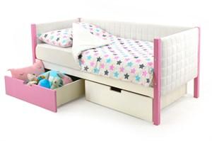 Детская кровать-тахта мягкая «Svogen лаванда-белый»