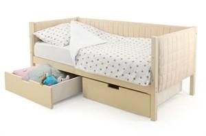 Детская кровать-тахта мягкая «Svogen бежевый»
