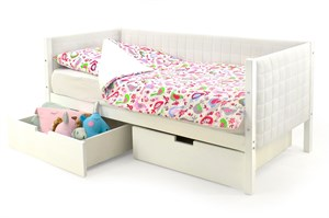 Детская кровать-тахта мягкая «Svogen белый»