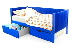 Детская кровать-тахта мягкая «Svogen синий»