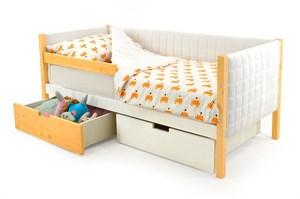 Детская кровать-тахта мягкая «Svogen дерево-белый»