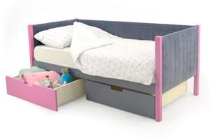 Детская кровать-тахта мягкая «Svogen лаванда-графит»