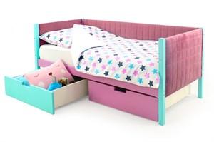 Детская кровать-тахта мягкая «Svogen мятный-лаванда»