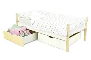 Детская деревянная кровать-тахта «Skogen бежево-белый»