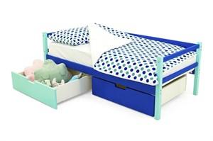 Детская деревянная кровать-тахта «Skogen мятно-синий»