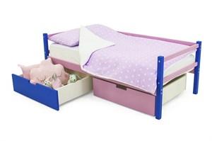 Детская деревянная кровать-тахта «Skogen синий-лаванда»