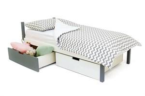 Детская кровать «Svogen Classic графит-белый»