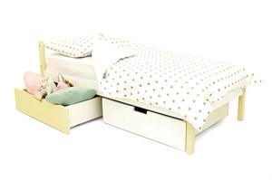 Детская кровать «Skogen classic бежево-белый»
