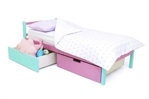 Детская кровать «Skogen classic мятный-лаванда»