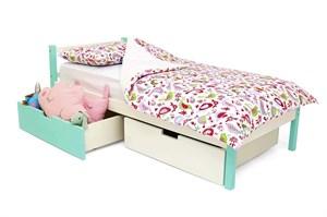 Детская кровать «Skogen classic мятно-белый»