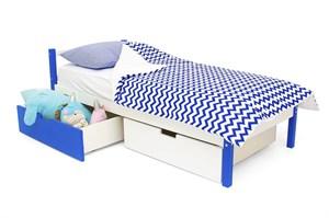 Детская кровать «Skogen classic сине-белый»