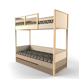 """Кровать двухъярусная без лесенки с фальш панелью из комплекта """"Робин Вуд"""""""