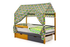 """Детская кровать-домик """"Svogen дерево-графит"""""""