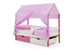 """Детская кровать-домик """"Svogen лаванда-белый"""""""