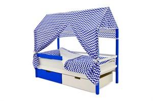 """Детская кровать-домик """"Svogen сине-белый"""""""
