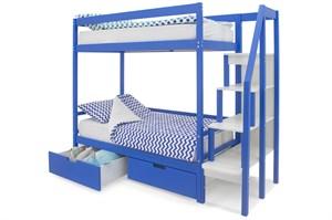 Двухъярусная кровать «Svogen» синий
