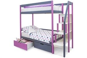 Двухъярусная кровать «Svogen» лаванда-графит