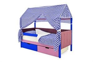 Кровать-домик мягкий «Svogen синий-лаванда»