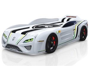 Кровать-машина «SportLine» белая