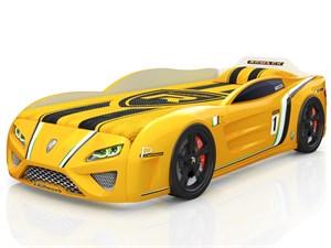 Кровать-машина «SportLine» желтая