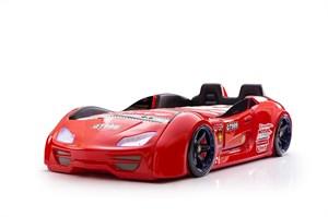Кровать-машина GT-999 (Все опции, с дверями, с сиденьями, красная)