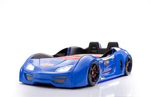 Кровать-машина GT-999 (Все опции, с дверями, с сиденьями, синяя)