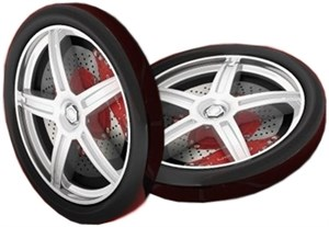 Пластиковые колеса для кроваток ТУРБО (2шт.)